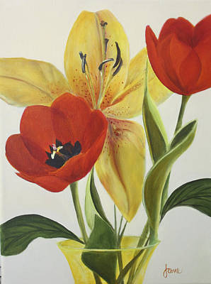Painting - A Time To Bloom by Nila Jane Autry