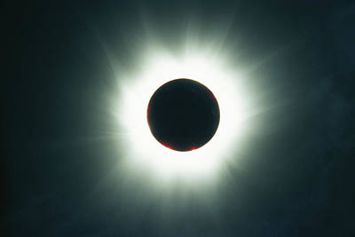 A Total Solar Eclipse Over France Art Print by Carsten Peter