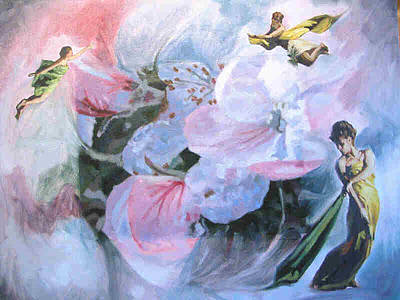 Image Transfer Mixed Media - A Touch Of Heaven by Donna Gallant