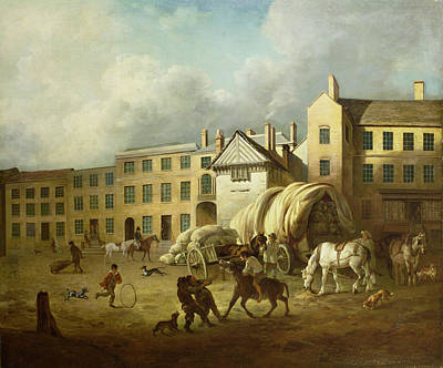 Chimney Painting - A Town Scene  by George Garrard
