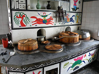 Outerspace Patenets Rights Managed Images - A Traditional Chinese Kitchen Corner Royalty-Free Image by Jiayin Ma