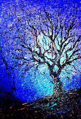 Pear Tree Painting - A Tree Outside My Studio by Artist Singh
