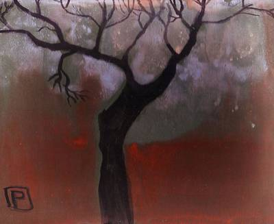 Folk Art Mixed Media - A Tree by Peter  McPartlin