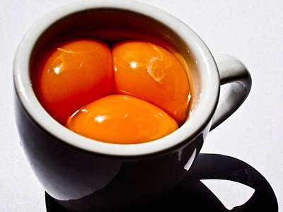 Norwegian Photograph - A Triple Eggspresso by Hakon Soreide