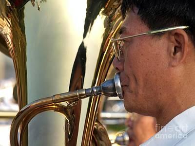 Euphonium Photograph - A Tuba Player by Yali Shi