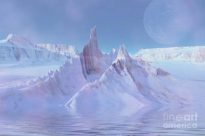 Plateau Digital Art - A Twilight Misty Scene by Corey Ford