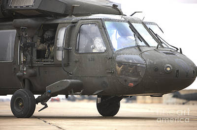 Photograph - A Uh-60 Black Hawk Taxis by Terry Moore