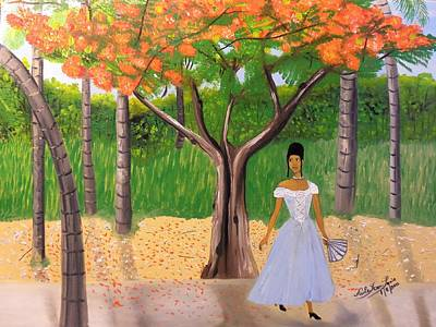 Painting - A Une Dame Creole by Nicole Jean-Louis