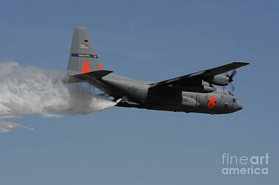 A U.s. Air Force C-130 Hercules Art Print by Stocktrek Images