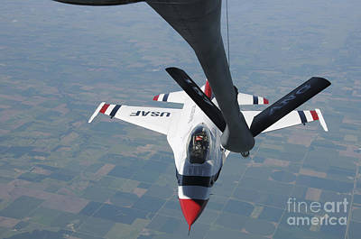 A U.s. Air Force Thunderbird Pilot Art Print by Stocktrek Images
