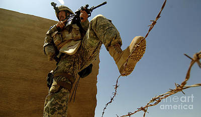 A U.s. Army Soldier Searches Art Print by Stocktrek Images