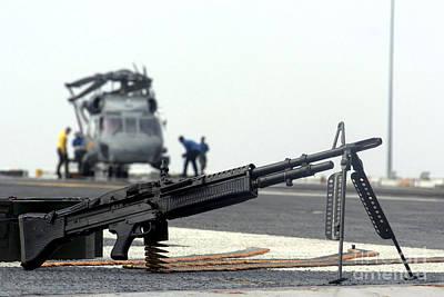 A U.s. Navy Saco 7.62 Mm M60 Machine Art Print by Stocktrek Images