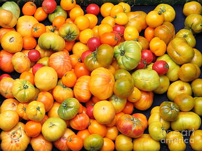 A Variety Of Fresh Tomatoes - 5d17904 Art Print by Wingsdomain Art and Photography