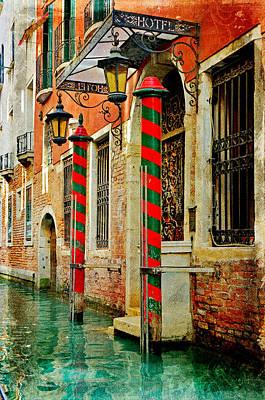A Venetian Hotel Art Print by Martina Fagan