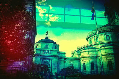 Toy Camera Digital Art - a View of St Paul Minnesota by Susan Stone