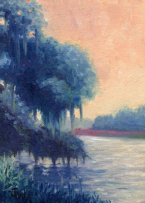 Art Print featuring the painting A View Of The Ashley River by Joe Winkler