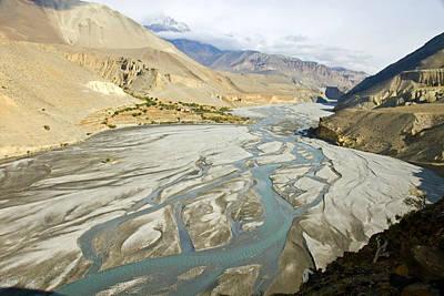 Kali Photograph - A View Of The Kali Gandaki River by Stephen Sharnoff