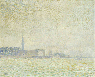 Netherlands Painting - A View Of Veere by Theo van Rysselberghe