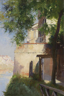 Italian Landscape Painting - A View Of Venice From A Terrace by Henry Woods