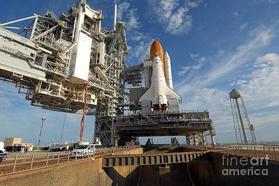 A View Space Shuttle Atlantis On Launch Art Print by Stocktrek Images