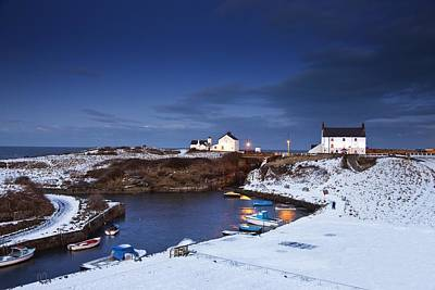 A Village On The Coast Seaton Sluice Art Print