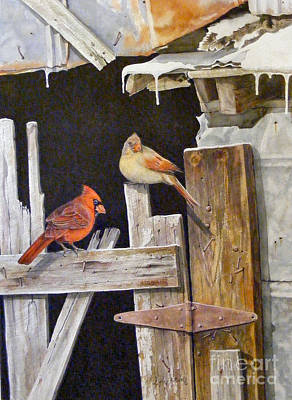 Painting - A Visit To Daddy's Barn  Sold by Sandy Brindle