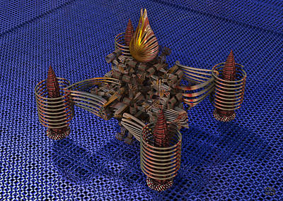Digital Art - A Von Neumann Nanobot On The Substrate Of An Integrated Circuit by Manny Lorenzo