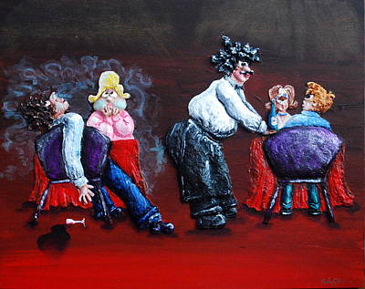 Chubbyart Painting - A Waiter's Revenge - Silent But Deadly by Alison  Galvan