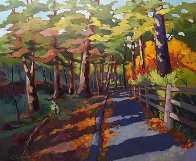 Wall Art - Painting - A Walk In The Park by Edward Abela