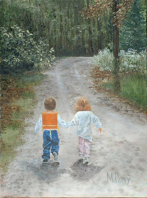Painting - A Walk In The Woods by Margie Perry
