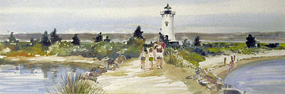 Painting - A Walk To Edgartown Light by P Anthony Visco