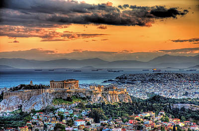 Photograph - A Warm Afternoon In Athens by Stamatis Gr