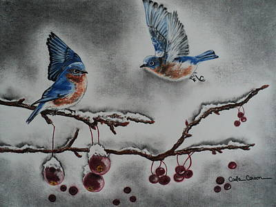 Drawing - A Warm Winter Welcome by Carla Carson