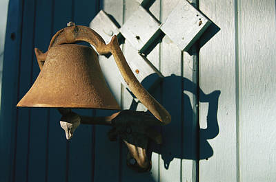 Photograph - A Weathered Bell Along An Alleyway by Stephen St. John