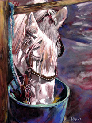 Art Print featuring the painting A Whiter Shade Of Pale by Rae Andrews