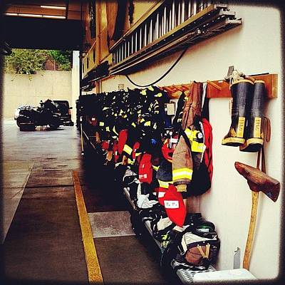 Wall Art - Photograph - A Whole Lot Of Bunker Gear. #instagood by Kevin Smith