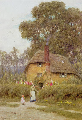 Dirt Roads Painting - A Wiltshire Garden by Helen Allingham