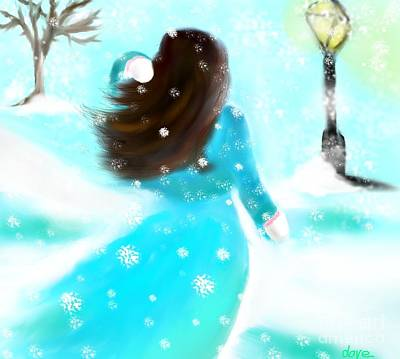 Art Print featuring the painting A Winter Day by Lori  Lovetere