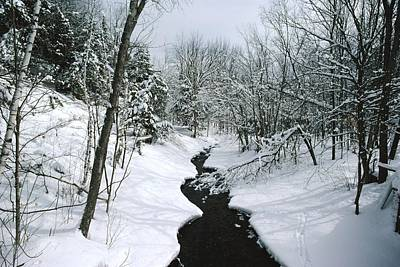 A Winter View Of Rush Brook Print by James P. Blair