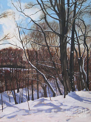 Painting - A Winter's Day by Joan McGivney