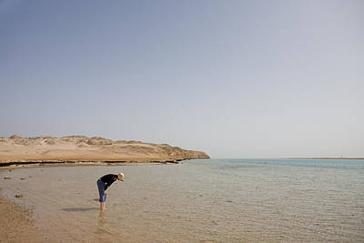 Aqaba Photograph - A Woman Looks At The Fish In The Red by Taylor S. Kennedy