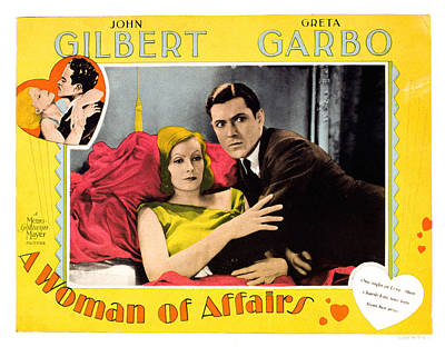 A Woman Of Affairs, Top Left Greta Art Print by Everett