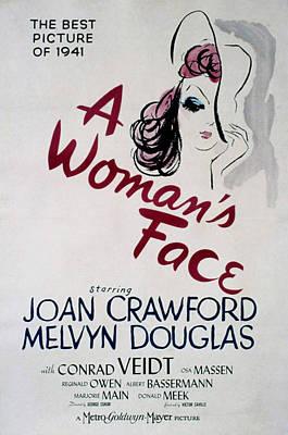 A Womans Face, Joan Crawford, 1941 Art Print by Everett