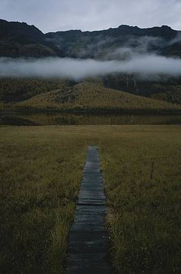 A Wooden Pathway Leads To An Art Print by Randy Olson