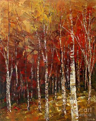 Terra Painting - A Woodpath by Tatiana Iliina