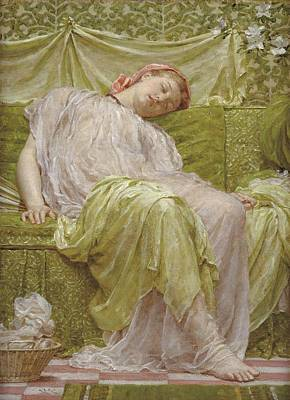 Exhausted Painting - A Workbasket by Albert Joseph Moore