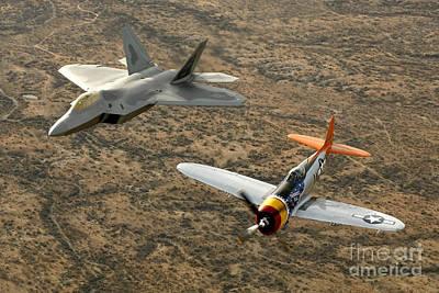 Photograph - A World War II-era P-47 Thunderbolt by Stocktrek Images