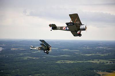 Triplane Photograph - A Wwi Sopwith 1-12 Strutter Biplane by Pete Ryan