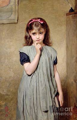 A Young Girl In The Classroom Art Print by Charles Sillem Lidderdale