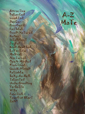 Mixed Media - A-z Mate by Anita Burgermeister